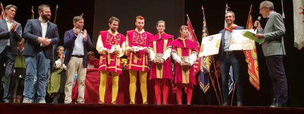 Voltaia vince l'Arca d'Argento 2018, la Contrada di Talosa bissa il premio miglior sbandieratori e tamburini